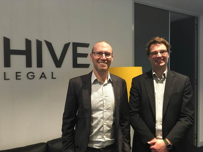 Jeremy Snow and Andrew Brookes are Principals of Hive Legal